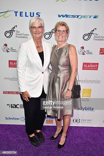Ontario's Premier Kathleen Wynne and partner Jane Rounthwaite attends David Foster Foundation Miracle Gala And Concert held at Mattamy Athletic...