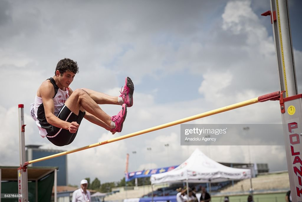 Onur Kopuzlu of Turkey competes in the Men's Heptathlon high jump during the INAS European Athletics Championships at the 19 Mayis Sports Complex Naili Moran Athletics Facilities in Ankara, Turkey on June 30, 2016.