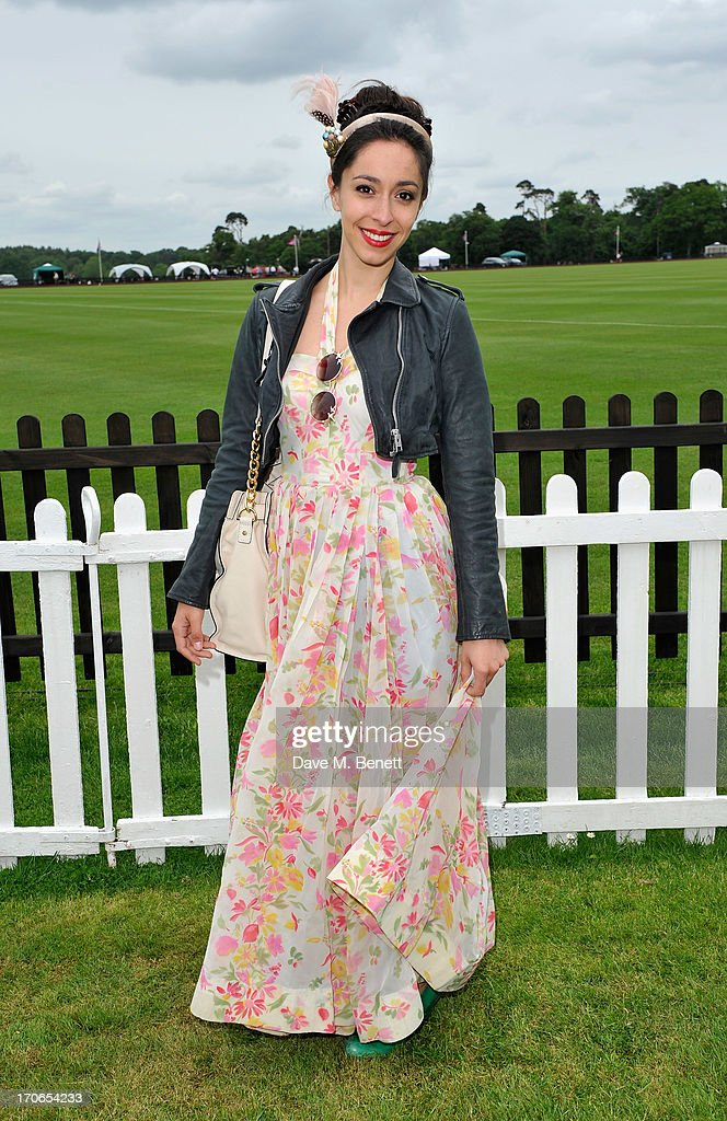Oona Chaplin attends the Cartier Queen's Cup Polo Day 2013 at Guards Polo Club on June 16, 2013 in Egham, England.
