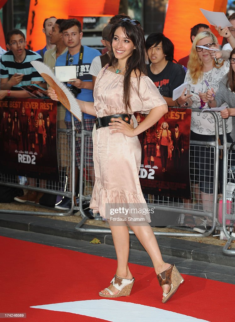Oona Chaplin attends the European Premiere of 'Red 2' at Empire Leicester Square on July 22, 2013 in London, England.