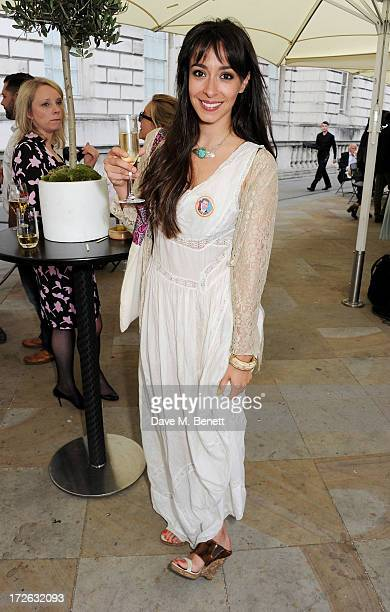 Oona Chaplin attends the private view of 'elBulli Ferran Adria and The Art of Food' at Somerset House on July 4 2013 in London England The exhibition...