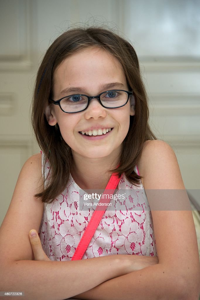 Oona Laurence at the 'Southpaw' Press Conference at the Four Seasons Hotel on July 14, 2015 in Beverly Hills, California.