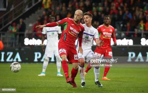 20170416 Oostende Belgium / Kv Oostende vs Rsc Anderlecht / 'rNicklas PEDERSEN Leander DENDONCKER'rFootball Jupiler Pro League 2016 2017 PlayOff 1...