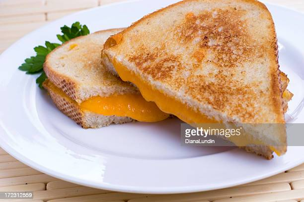 Oozing Grilled Cheese Sandwich