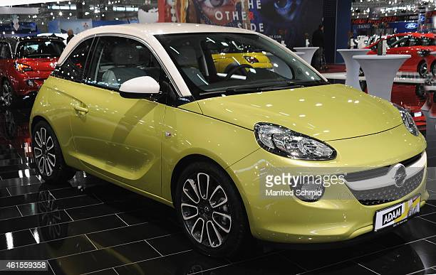 Opel Adam is seen during the Vienna Autoshow as part of Vienna Holiday Fair on January 14 2015 in Vienna Austria The Vienna Autoshow will be held...