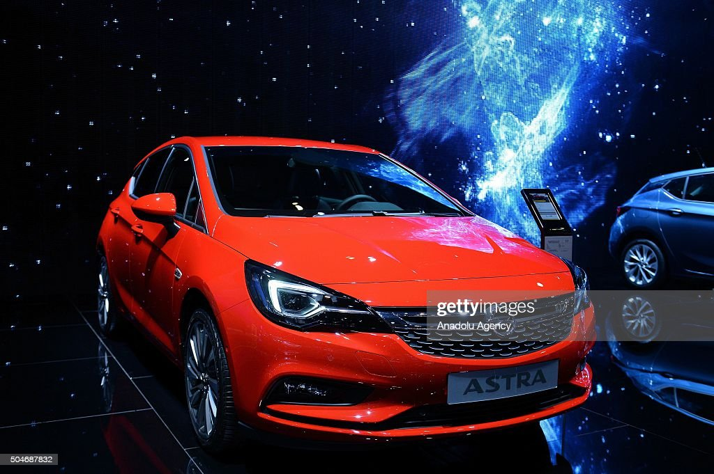 Opel Astra on display during the Brussels Auto Show at Expo Center in Brussels Belgium on 12 2016
