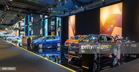Opel cars at the Opel stand