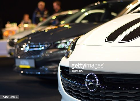 Opel vehicles on the motor show