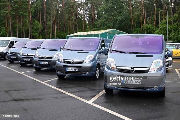 Opel Vivaro vehicles on the parking in a row
