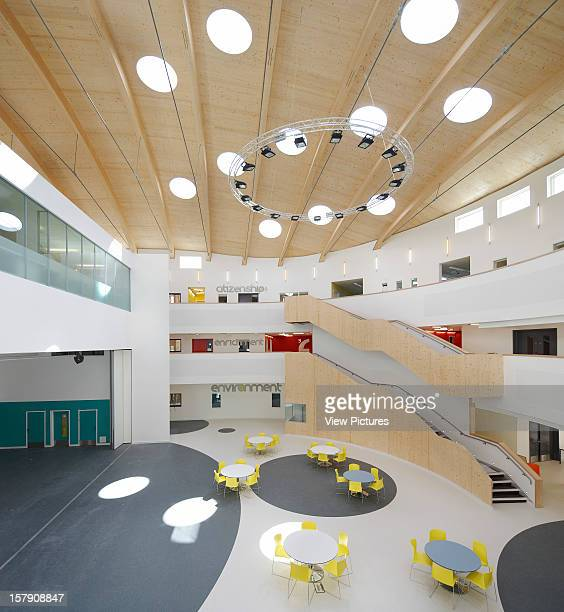 Open Academy Sheppard Robson Norwich Central Forum Space With Wooden RoofAcademy School Architect