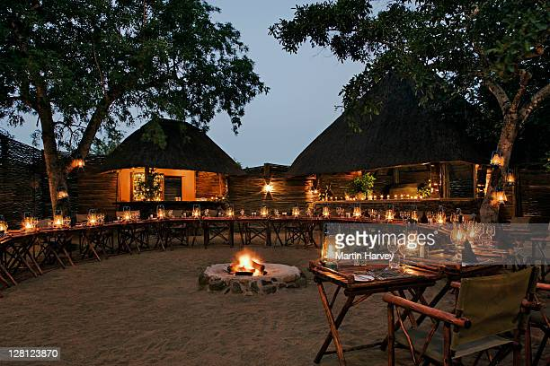 Open air boma at Savanna Private Game Lodge, Sabi Sand Game Reserve, South Africa