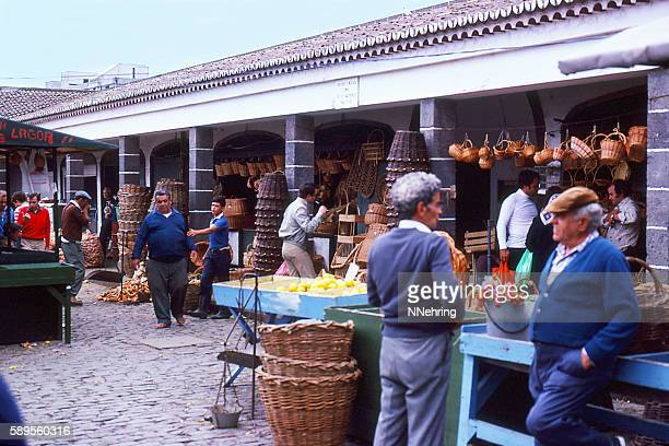 open air market in Ponta Delgada, Azores 1981
