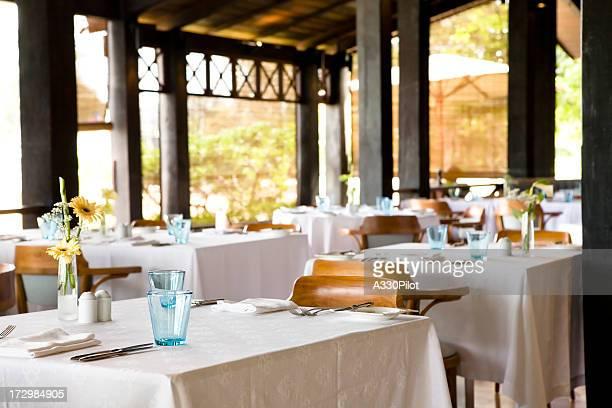 Restaurant du centre de villégiature en plein Air