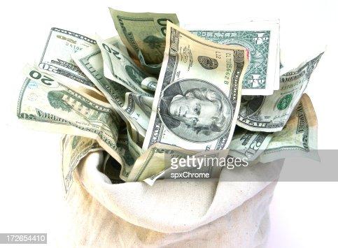 Open Bag of Money