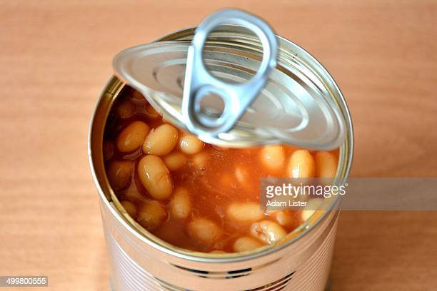 Open Baked Bean Tin