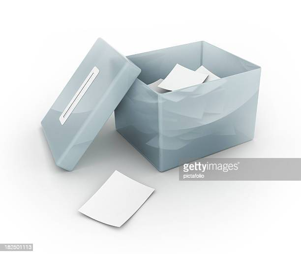 open ballot box