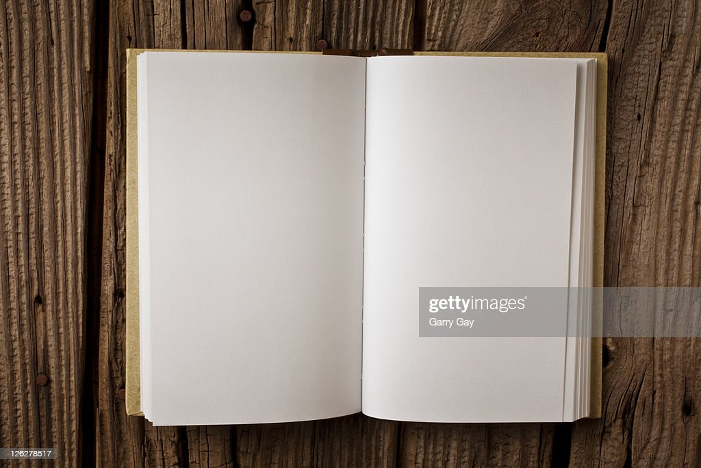 Open blank book : Stock Photo