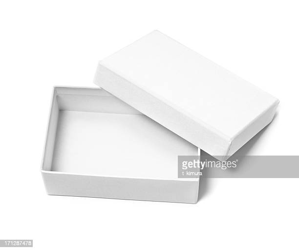 Boîte vide ouvert