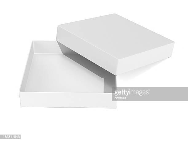 Abrir la caja de regalo en blanco