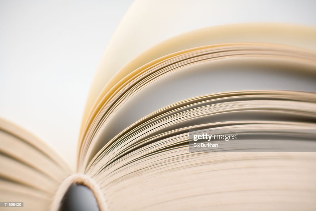 Open book, close-up : Stock Photo