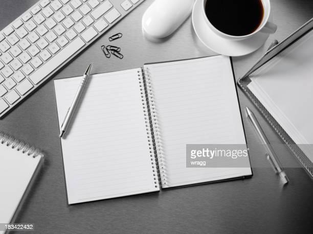 Open Book on a Office Desk