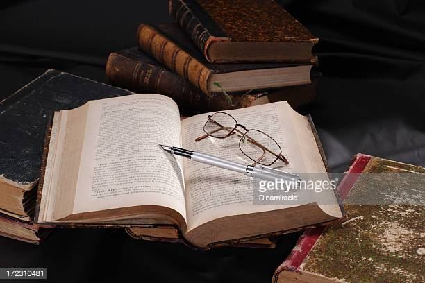 Open  Book, Pen and Glasses