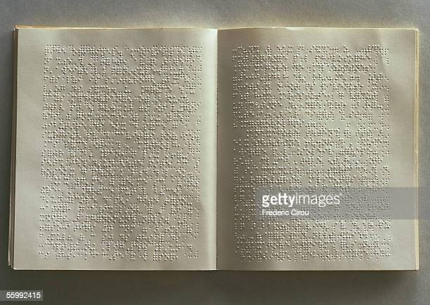 Open book with brail on pages