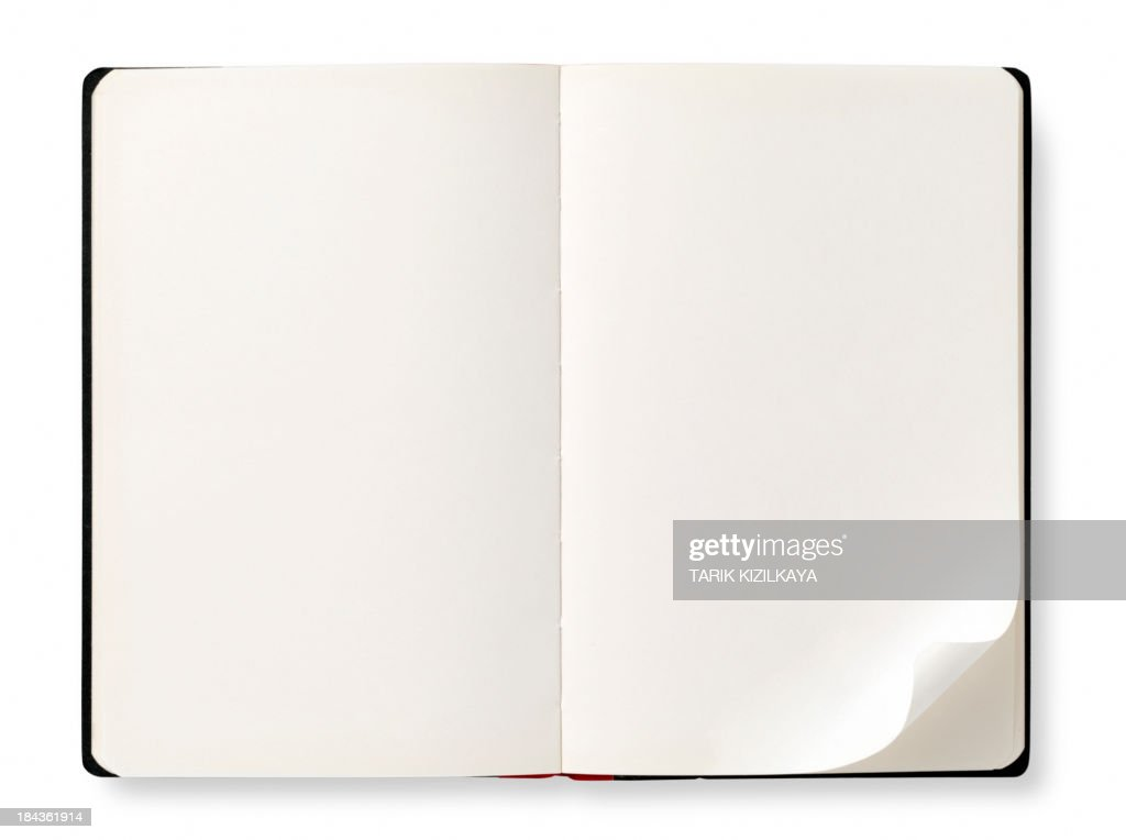 Open book with empty pages
