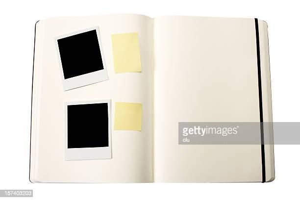 オープンブック(ブランク)の写真フレーム、およびその