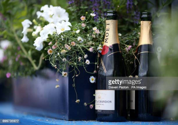 Open bottles of Moet are left on a ledge during day four of the 2017 AEGON Championships at The Queen's Club London