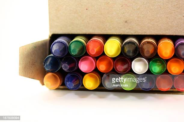 Open Box of Crayons