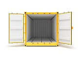 Open Cargo Container Open Doors Front view