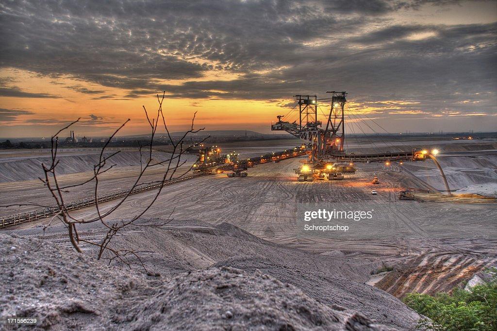Open Cast Mining at night