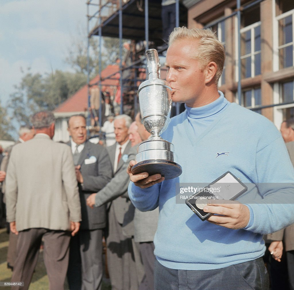 British Open 1966 at Muirfield Golf Links in Gullane East Lothian Scotland held 6th 9th July 1966 Pictured Jack Nicklaus with the trophy after...