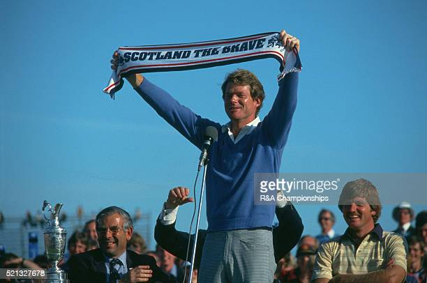 Open Championship 1982 at Royal Troon Golf Club in Troon Scotland held 15th 18th July 1982 Pictured Tom Watson 18th July 1982