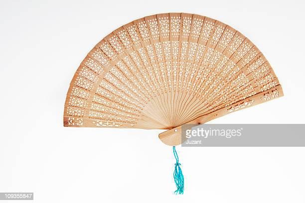 Open Chinese wooden fan