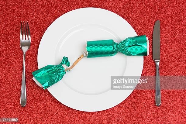 Open christmas cracker