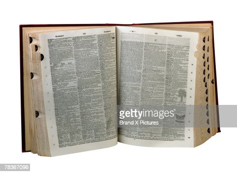 Vocabulary stock photos and pictures getty images for Open dictionary