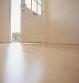 Open door, low angle view