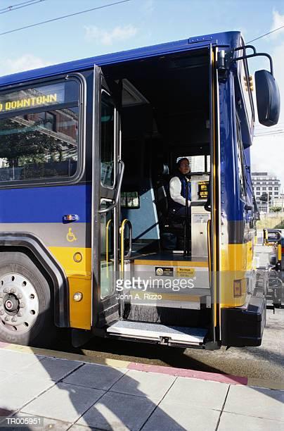 Open Door of Bus