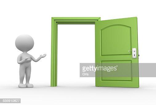 Puerta abierta : Foto de stock