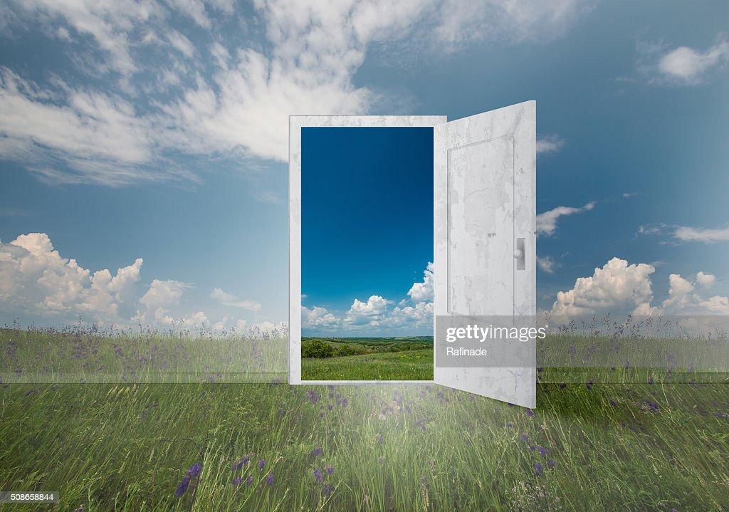 Open door to everywhere : Stock Photo