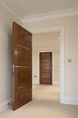 open door to hallway