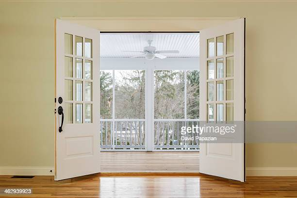 French doors stock photos and pictures getty images for Double open french doors