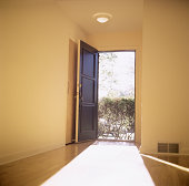 Open doorway with light flooding in