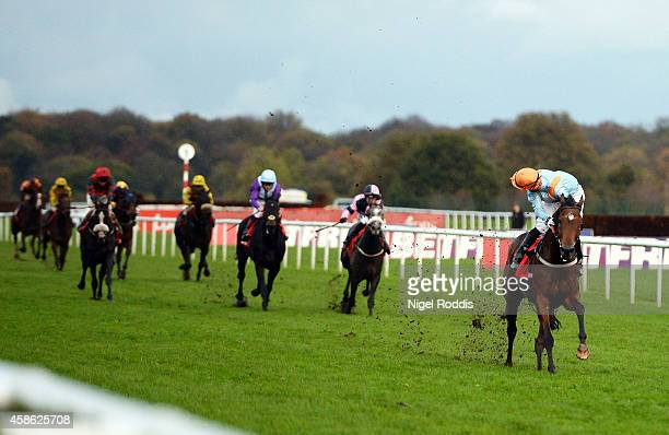Open Eagle ridden by Daniel Tudhope wins The Betfred November Handicap Stakes at Doncaster Racecourse on November 8 2014 in Doncaster England