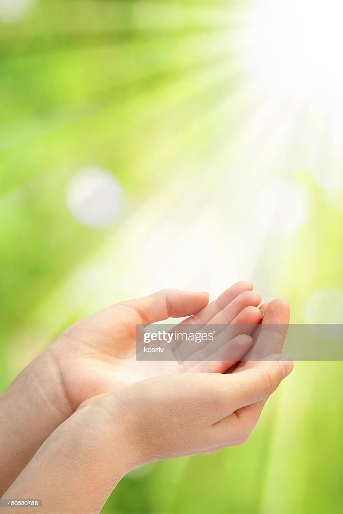 Open empty hands : Stock Photo