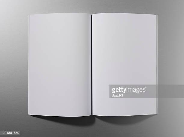 Open empty magazine or book