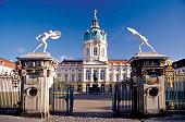 Open entrance gate of the Charlottenburg Palace, Berlin, Germany
