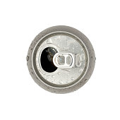 Open fizzy drink can with clipping path